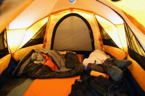A tent: home away from home?