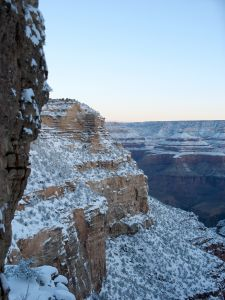 Sunrise over the Grand Canyon in winter