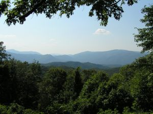 View of the Smoky Mountains from Tennessee