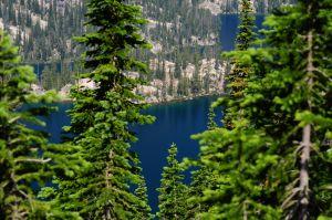 Mountain lake in Idaho