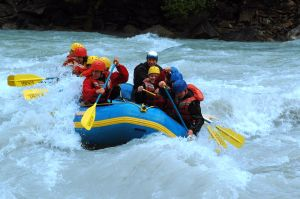 Whitewater rafting fun in Alberta