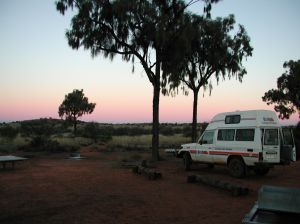 Camping in the Australian outback!