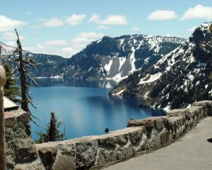 Crater Lake in the spring