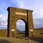 North gate to Yellowstone National Park