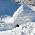 Self-made igloo